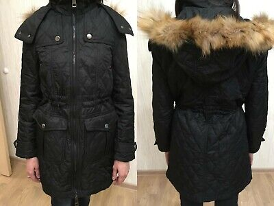 Burberry Brit Black Quilted Parka Trenchcoat size  M like US6