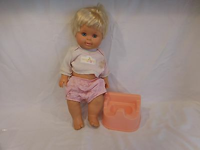 "BETSY WETSY DOLL 16""  1989 IDEAL with her Potty Chair...Rare"