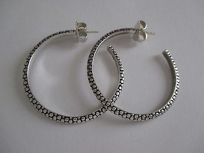 """Michael Dawkins Sterling Silver 14K Gold Large Open Back Hoop Earrings 1.5"""""""