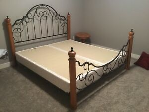 King Size Bed Frame with Box Springs