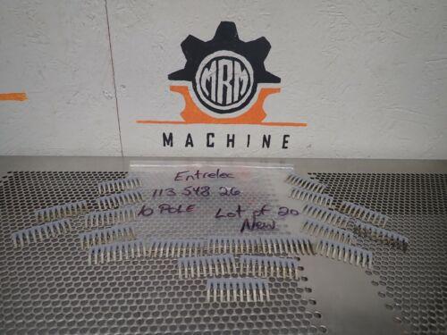 Entrelec 113 548 26 Jumpers 10 Pole New No Box (Lot of 20)