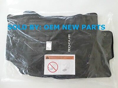 Genuine 2017 2018 Nissan Rogue Carpeted Floor Mats FRONT & REAR -  Black OEM NEW