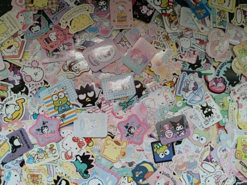 Kawaii Sticker flakes 50 pcs SANRIO CHARACTERS GRAB BAG