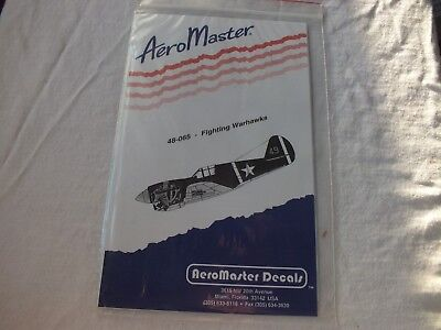 1/48 AeroMaster Decals 48-065 Fighting Warhawks Decal Set Mint in Package