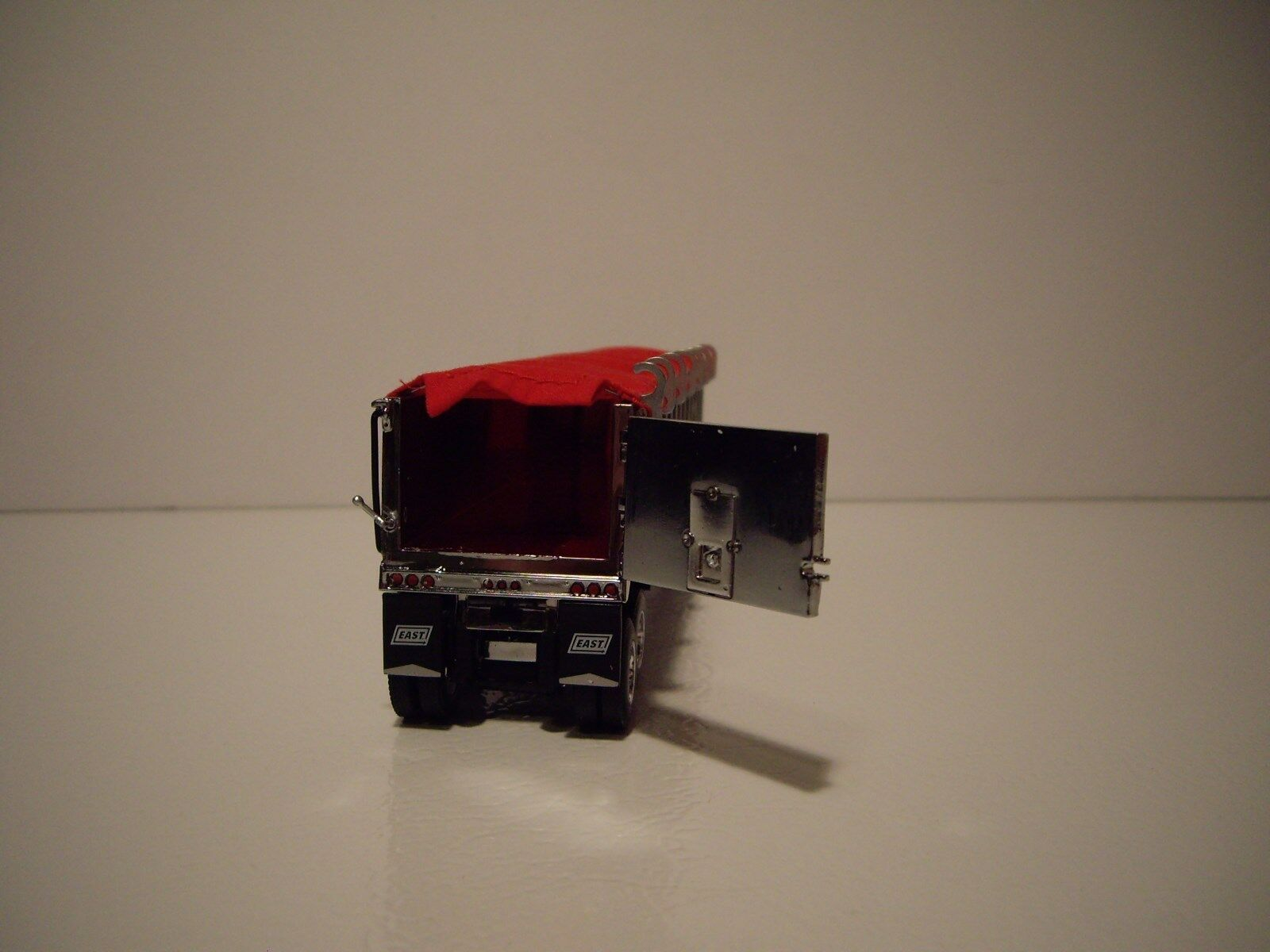 DCP FIRST GEAR 1/64 TANDEM AXLE CHROME WITH RED TARP EAST END DUMP 3