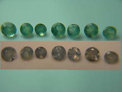 7 rare natural Alexandrite gems COLOR CHANGE Green Blue Purple Orissa parcel ao7