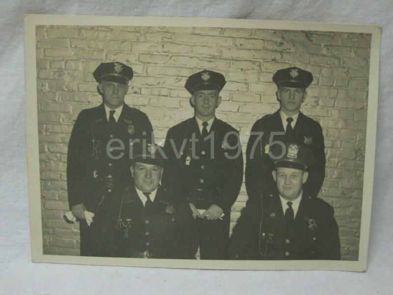 Bellows Falls Vermont Police Department Group Photo Snapshot Old Vtg