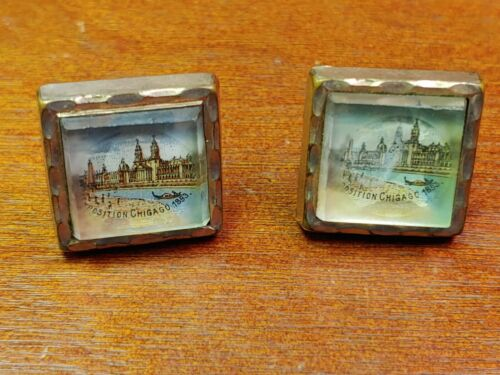 1893 Chicago Exposition Gold Filled Cuff Links RARE!!!!