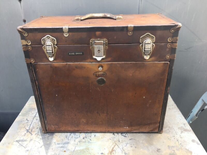 Vintage Machinist Tool Box 11 Drawer Plywood Wrapped In Metal National? No Key