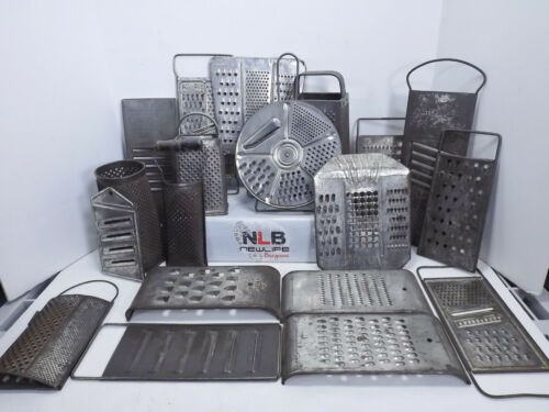 Vintage Antique Lot of 19 Cheese Graters Shredders
