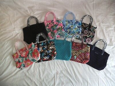 - NWT Vera Bradley Casual Satchel Purse Bag Hobo Microfiber Bowler Leather