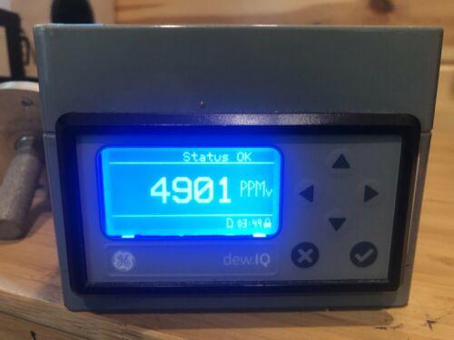 GE DEW.IQ Moisture Analyzer Sgle Channel LCD Display w/ Panametrics probe