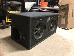 "Double 12"" kicker (comp 10c124- 4OHM) subwoofer"