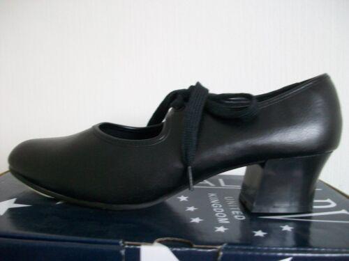 Roch+Valley+PVCTC+Black+Cuban+Heel+Tap+shoes+size+2.5+UK+-+35+EU