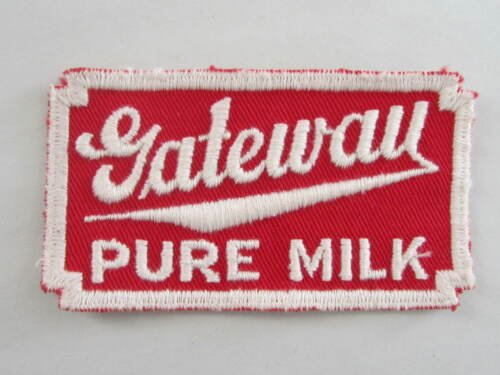 Gateway Pure Milk Patch / New Old Stock of Closed Embroidery Company / FREE Ship