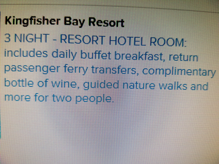 Fraser Island Kingfisher Bay Resort 3 nights with Extras