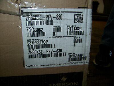 Emerson Copeland Compressor 208-230v 1 Ph 60 Hz Zr38k5e-pfv-830 New