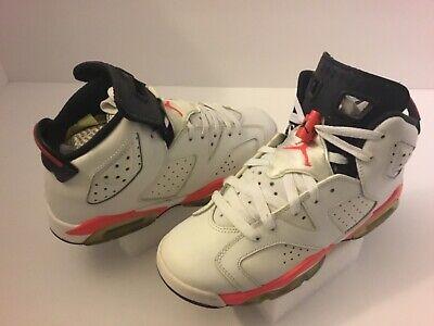Kid's Air Jordan 6 Athletic Shoes Boy's Size 6Y Multi-Color Leather #384665-123