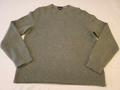 Banana Republic Luxury Winter Blend Mens XL Gray Wool Cashmere Rabbit Sweater Mens Luxury Wool Cashmere