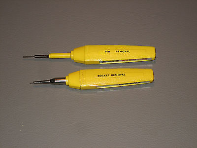 Lot Of 2 Amphenol Ms3342 23 Ms3344 23 Pin   Socket Removal Tool Size 23
