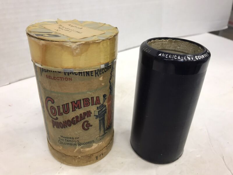 """COLUMBIA PHONOGRAPH CYLINDER RECORD #2631 """" AMERICA, MY COUNTRY TIS OF THEE"""""""