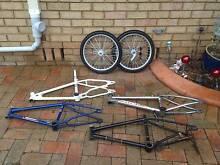Old School BMX Frames Forks Wheels Cambridge Park Penrith Area Preview
