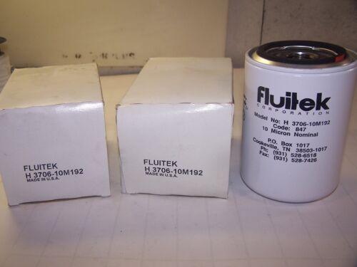2) NEW FLUITEK 10 MICRON FILTER ELEMENT H-3706-10M192