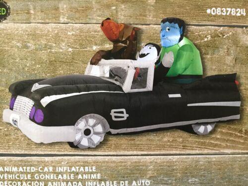Animated Car Inflatable Haunted Halloween Frankenstein Dracula Werewolf Led