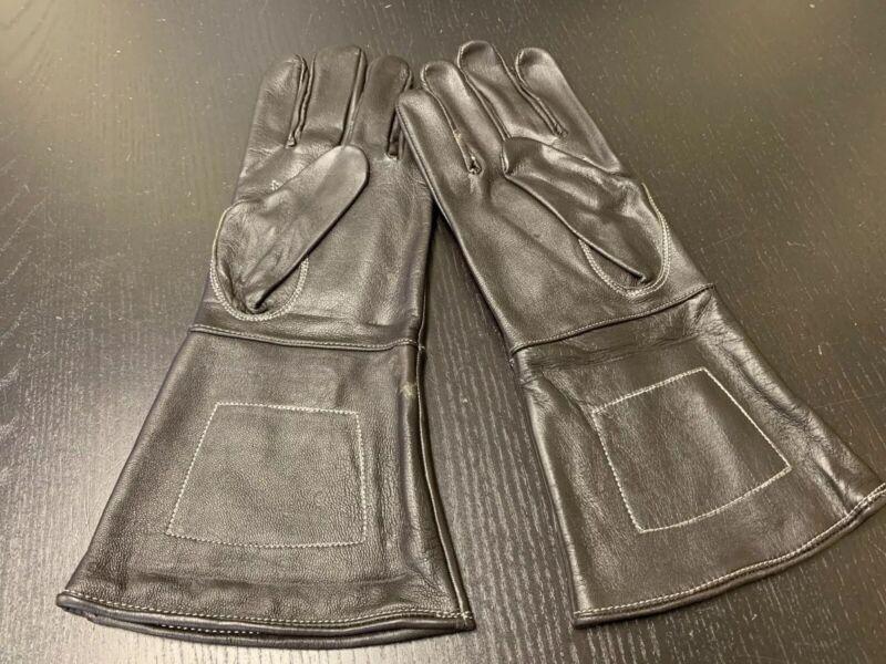 NEW BLACK Leather Gauntlet Gloves - Size XL - Excellent, Civil War, Steampunk