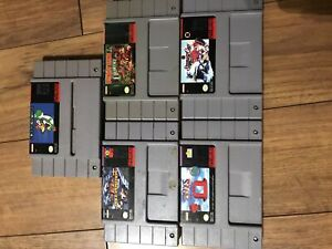 5 SNES Games - Super Mario World & Donkey Kong Country