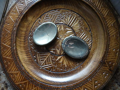 *PYRITE* Pocket Worry Stone (one) Gemstone Wiccan Pagan Metaphysical