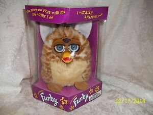 ORIGINAL-BROWN-TAN-Furby-Tiger-Electronics-70-800-in-box-LOOK