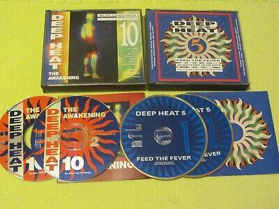 Deep Heat 5 Feed The Fever & Deep Heat 10 The Awakening 2 Albums 4 CDs Dance