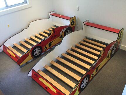 Boys boy racing car beds bed x 2