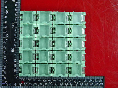 Green 20pcs Smd Smt Electronic Case Box Kits Components Storage Container Cg402