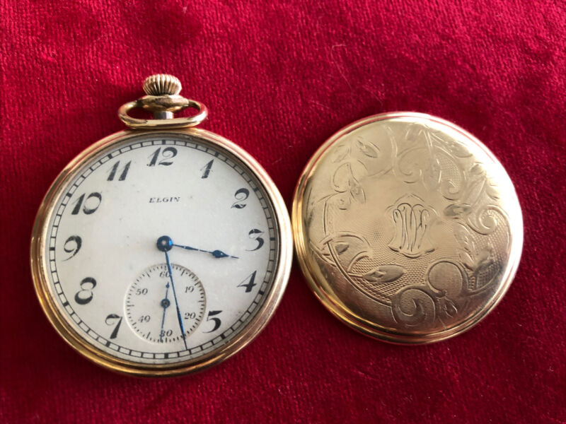 Antique Elgin Ramona 17  Jewel Pocket Watch  w/Illinois Cover Working