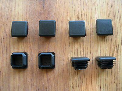 8 Square Plastic Finishing Cap Plugs For 1x1 Outside Diameter Od Square Tubing