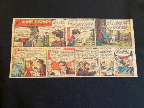#02 LITTLE ANNIE ROONEY by Darrell McClure Lot of 3 Sunday Comic Strips 1954