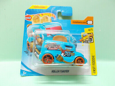 GRILLE PAIN ROLLER TOASTER roues rouge HOT WHEELS HOTWHEELS NEUVE 1/64 3 inches