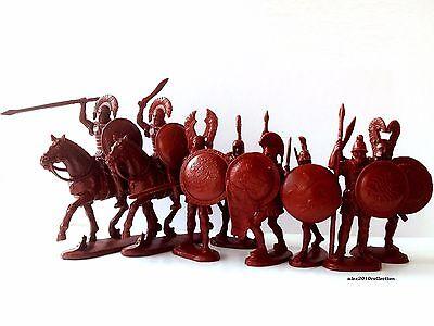 Ancient Greek Warriors LTD EDITION, 8 plastic toy soldiers1:32 - Greek Warriors