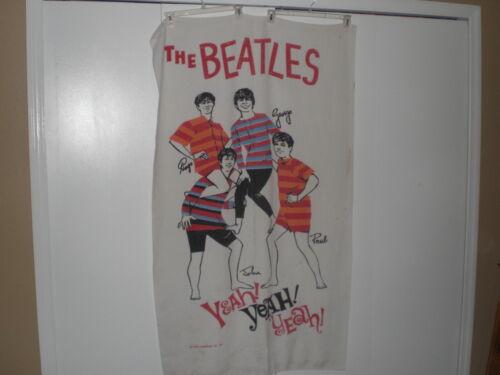 Vintage Original Beatles Beach Towel Yeah Yeah Yeah Nems Enterprises LTD 1964