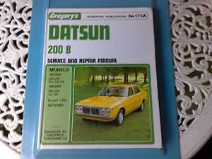 Datsun 200B Workshop Manual - Gregory's Number 175A Narre Warren Casey Area Preview