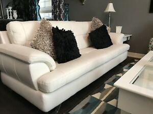 Modern Leather Sofa and Chair