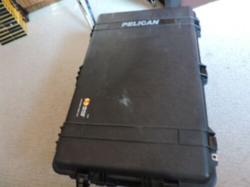 LIGHLY USED PELICAN 1650 CASE (BLACK) WITH FOAM, FULLY LOADED, POWER SUPPLY MORE