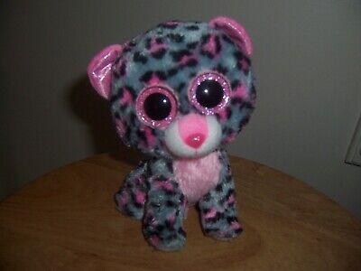 Ty Big  Eyes  Tasha  Beanie Babies Plush Animal Dog