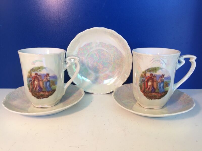 Silesia Germany 2 Tea Cups and 3 Saucers