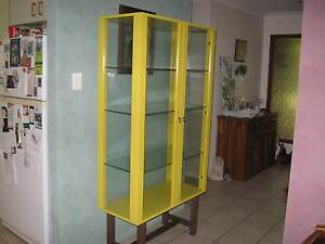 IKEA STOCKHOLM YELLOW GLASS DISPLAY CABINET Lawnton Pine Rivers Area Preview