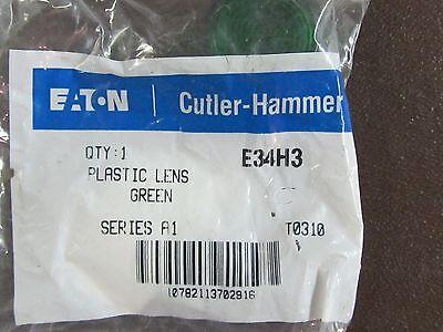 EATON CUTLER HAMMER GREEN Lens for E34 Pilot Light T1010 Ser A1 E34H3