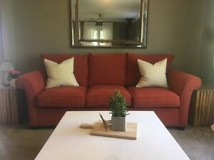 Red couch from Bowring