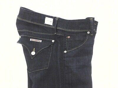 HUDSON COLLIN Skinny Jeans Dark Blue Stretch Tapered Flap Pocket Women's 29 $195